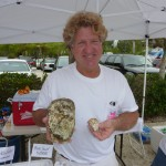 Timber's owner Matt Asen shows a HUGE oyster