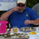John from Sanibel Rotary in Oyster eating contest