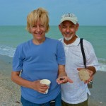 Terry and Bob (Cape Coral) with their shark's teeth