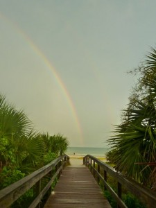 Beach Path to the Rainbow