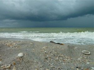 Captiva Island storm and beach