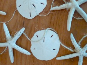 Sand Dollar Starfish Seashell garland