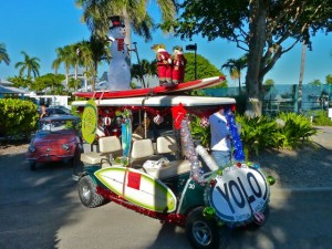 Captiva Holiday parade Yolo float