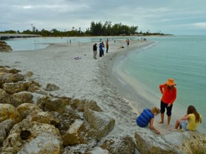 Changing sand bar
