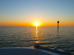 Sunrise boating