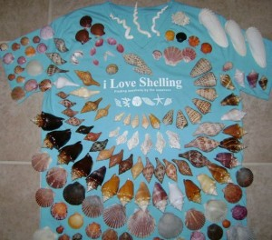 i Love Shelling tee shirt shells