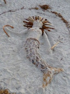 Beach Art mermaid