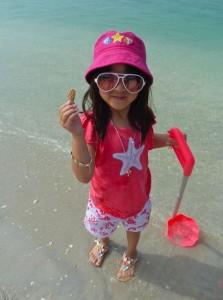 Young sheller Brianna