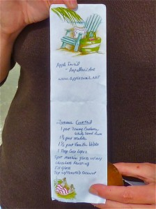 Kathy's junonia recipe