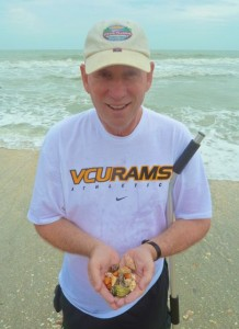 Sanibel man with seashells