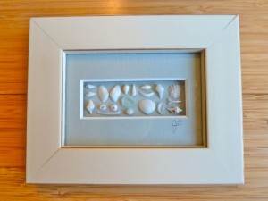 framed miniature shells