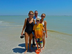 Sanibel beach family