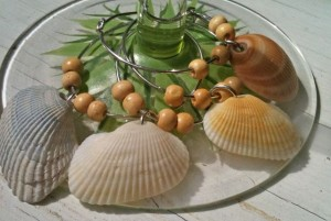seashell winecharms