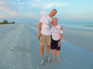 Couple on sanibel beach