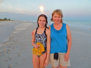 Mother daughter Sanibel beach