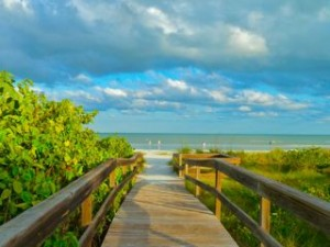 Sanibel beach path