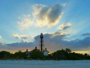 Sanibel lightouse sky