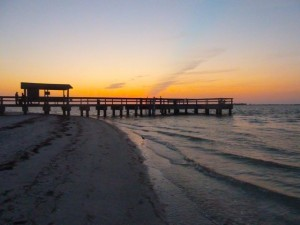 Sanibel pier sunset
