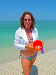 Sharon Sanibel shell bucket