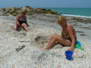 Shelling sisters