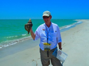 clark with horse conch