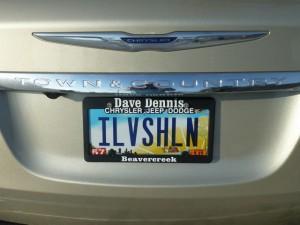 iLvshln license plate