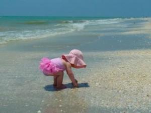 pink tutu beach baby