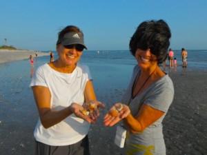 Sooz Ellen with shells