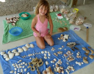Taylor with seashells