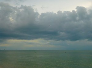 Dark clouds gulf