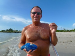 Eric with Sanibel seashells