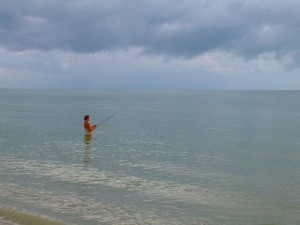 Sanibel fishing  dark sky