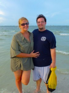 newlyweds on Sanibel