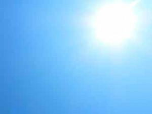 sun in aqua sky