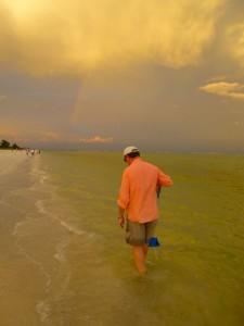 Clark with rainbow