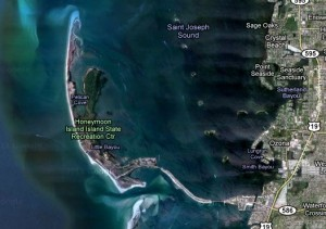 Honeymoon Island map