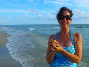 Lynda Sanibel beach