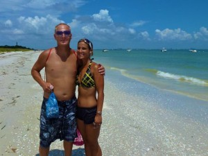 William and Melissa Sanibel beach