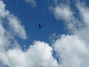 clouds surrounding dragonfly