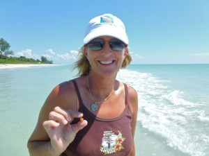 Diane with beach candy