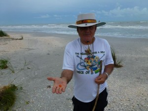 Benny Miami with seashells