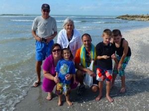Captiva beach family Florida