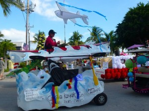 Captiva Kayak company golf cart parade
