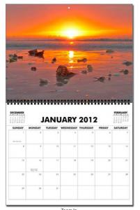 Jan page calendar 2012