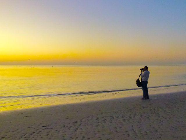 Sanibel Low Tide Golden Sky