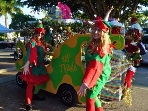 South Seas Golf cart parade elf