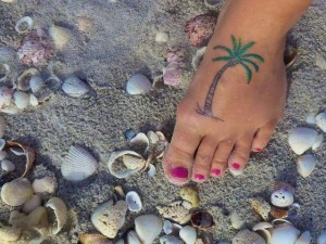 Tammy tattoo palm tree