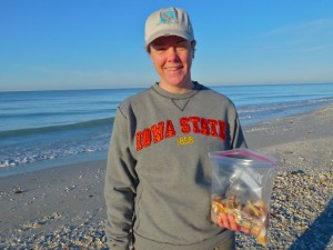 Jenny Iowa shelling sanibel