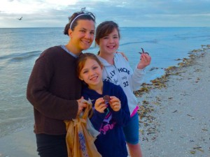 Kristin, Chloe, Haley girls sanibel beach