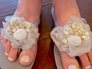 brides maid flip flops